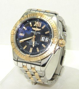 Breitling 18K Yellow Gold /Stainless Steel Mens Watch