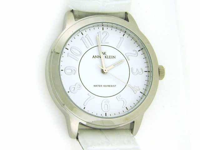 AK Anne Klein Leather Collection White Dial Women's