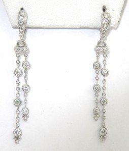 Judith Ripka 18K White Gold Diamond Earrings
