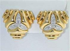 Tiffany & Co 18K  Yellow Gold, Diamond Earrings
