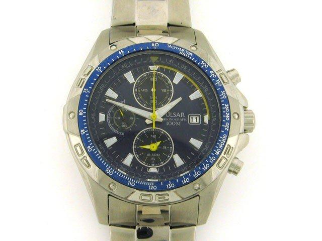 Pulsar Mens Gents Alarm Chronograph Watch