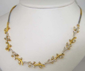 14K Two-Toned Gold Diamond Necklace