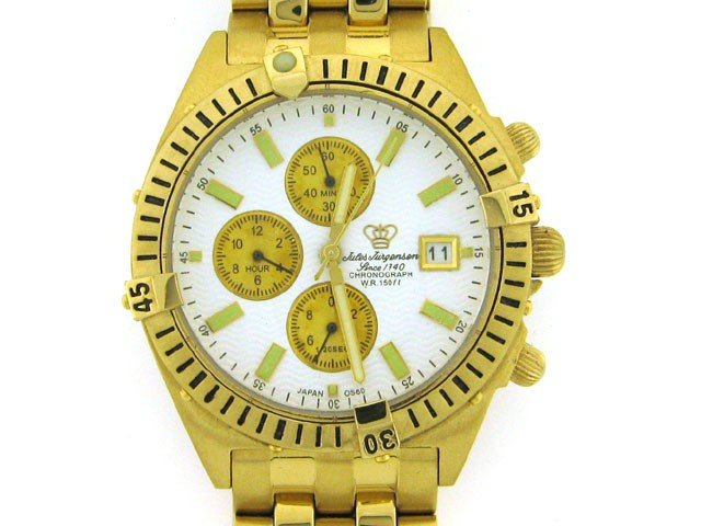 Jules Jurgensen Men's 7668Y Two-Tone Chronograph Watch