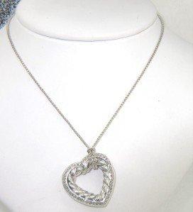 5B: David Yurman Silver Diamond Necklace