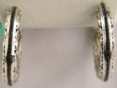 Charles Krypell Black Diamond Earring