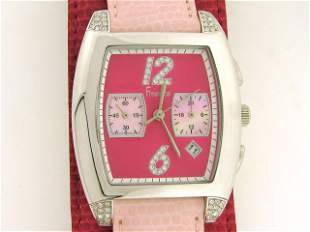 Freelook Women's HA1081CH-5 Pink Dial Leather Watch