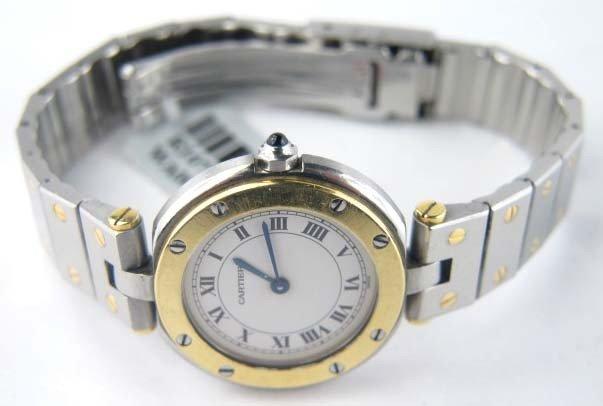 Cartier 18K Yellow Gold Stainless Steel Wrist Watch