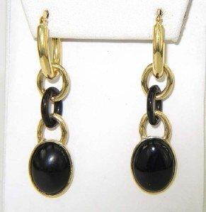 Faraone Mennella 18K Yellow Gold Onyx Earrings