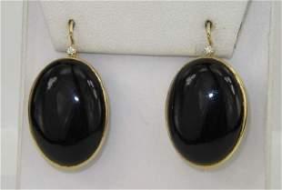 Faraone Mennella 18K Gold Onyx, Diamond Earrings