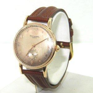 Patek Philippe 18K Rose Gold Leather Strap Watch
