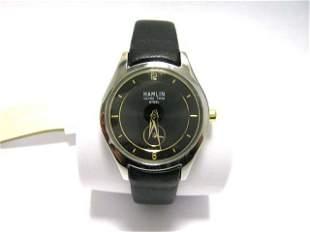 Hamlin Ladies Classic Black Leather Strap Watch