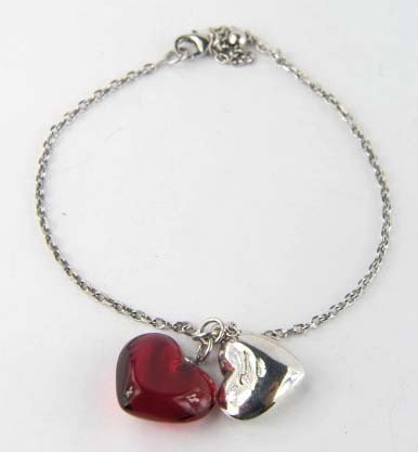 Baccarat Silver/Ruby Crystal Bracelet