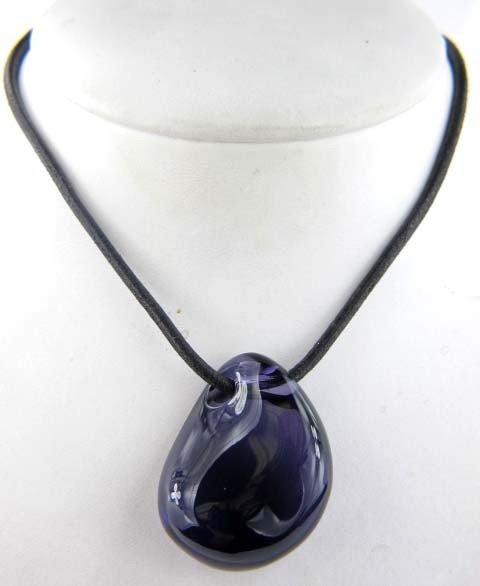 Baccarat Galet Amethyst Pendant Necklace