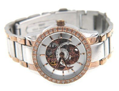 Anne Klein Stainless Steel Skeleton Automatic Watch - 4