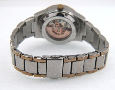 Anne Klein Stainless Steel Skeleton Automatic Watch - 6