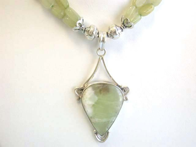 Silver and Aventurine Necklace