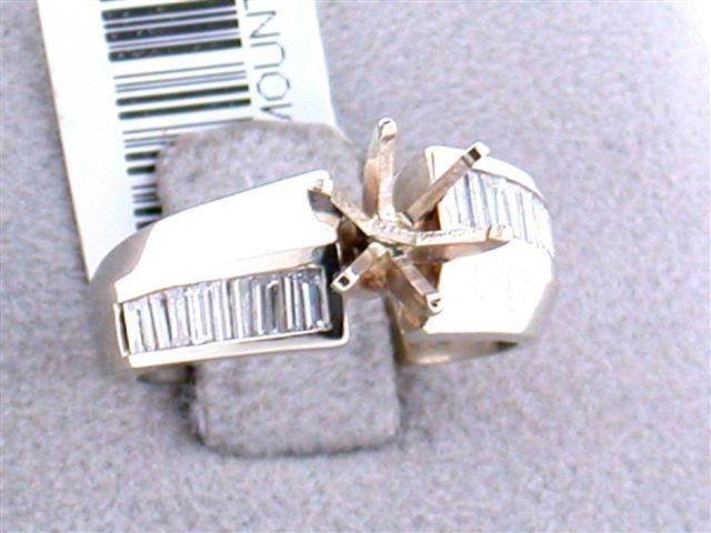 14k Yellow Gold Semi-mount with Diamonds