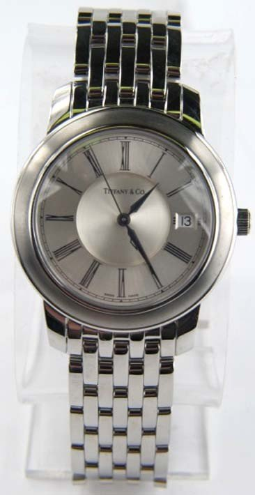 Tiffany & Co  Stainless Steel Date Just  Watch