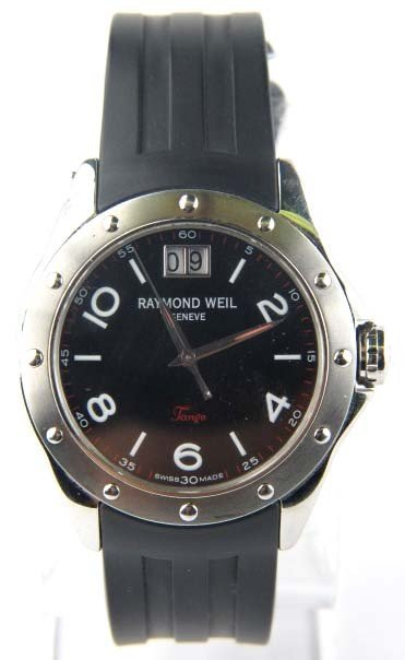 Raymond Weil Collection Tango Rubber Strap Watch