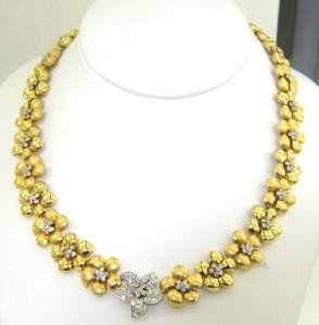 Salavetti 18K Two-Toned Gold Diamond Necklace