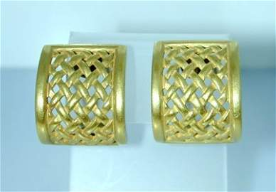 Kieselstein-cord 18K Yellow Gold Earrings
