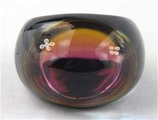 Baccarat Onyx/Violet Psydelic Ring