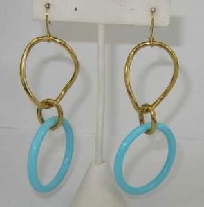 Faraone Mennella 18K Yellow Gold Turquoise Earrings