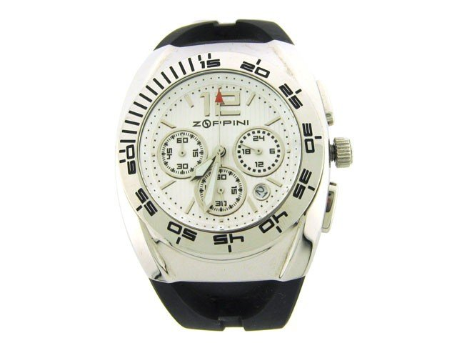 Zoppini Stainless Steel and Rubber Chronograph Watch