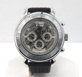 4B: Marcel Drucker Stainless Steel,Skeleton Men's Watch