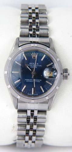 32: Rolex Stainless Steel DateJust Ladies Watch