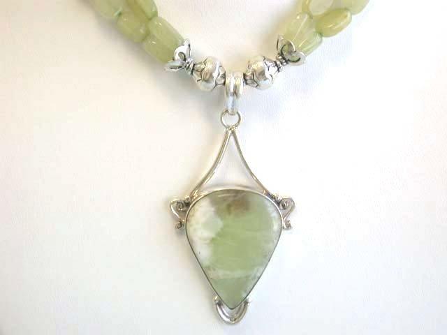 2E: Silver and Aventurine Necklace