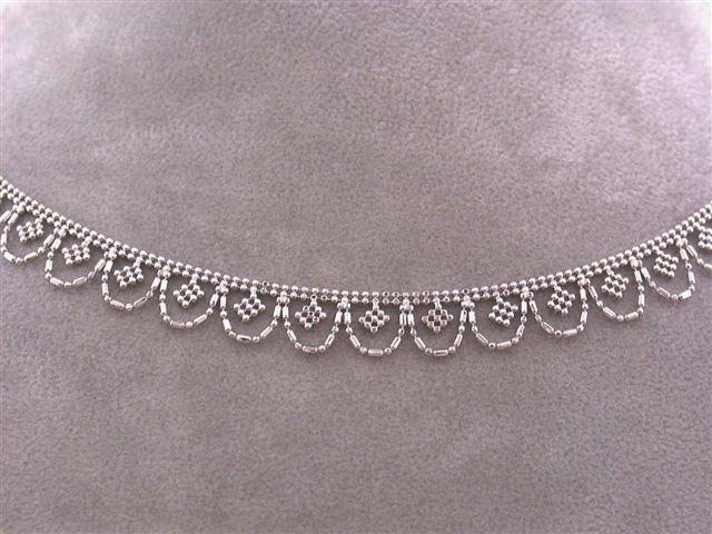 3E: 14k White Gold Necklace