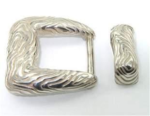 Tiffany & Co Silver Belt Buckle