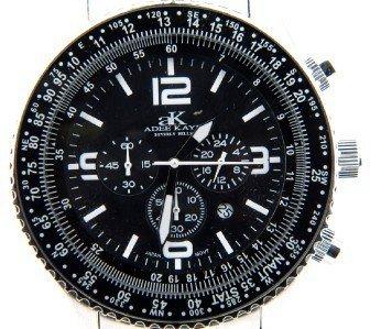 Adee Kaye Stainless Steel Chronograph Mens Watch
