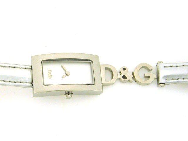 D&G Dolce & Gabbana Shout White Logo Silver Dial Wo