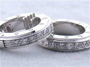 18k White Gold Diamond MAUBOUSSIN Earrings