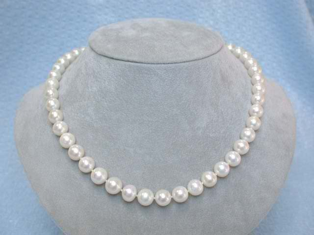 92A: Pearl Necklace with White Gold 14k Clasp