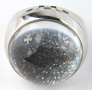 Baccarat Silver/Clear Crystal Ring