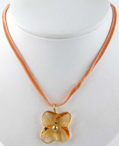 100B: Baccarat 18K Yellow Gold/Yellow Citrine Necklace