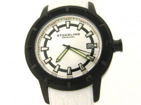 Stuhrling 621 Torino Sports Quartz White Band Mens