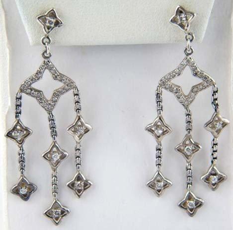 2: David Yurman Silver Diamond Earrings