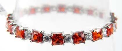 1B: Silver Colored Stone Bracelet