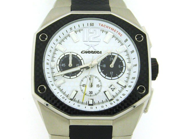 3D: Carrera Men's CW66441.47C021 Sporty Chronograph Whi
