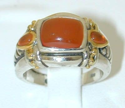 1C: BJC Silver/18K Gold Color Stone Ring