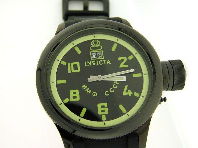 1C: Invicta Men's 4338 Russian Diver Collection Black W