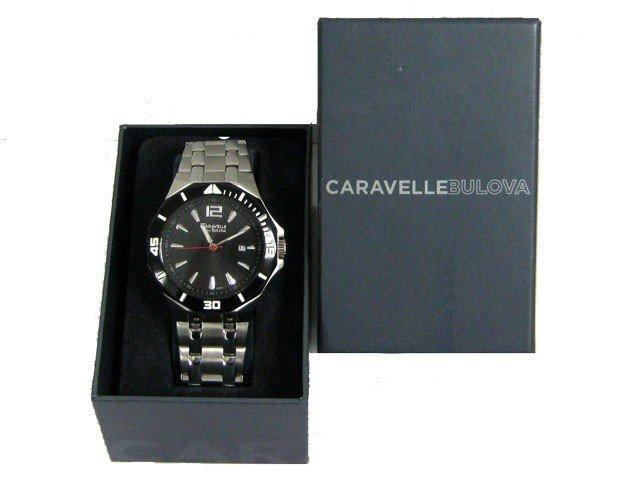 3C: Caravelle by Bulova Men's 45B110 Black Dial Stainle - 5