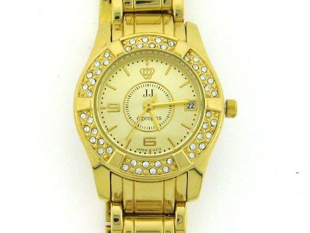 4C: Jules Jurgensen Women's Crystal Bezel Watch