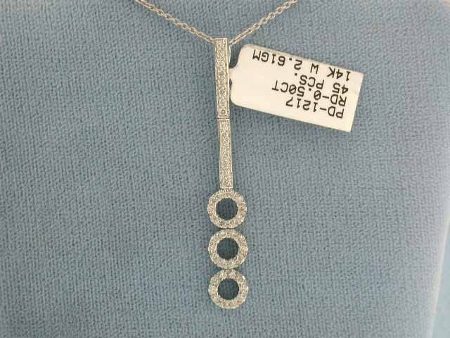 1A: 14k Gold and Diamond Necklace
