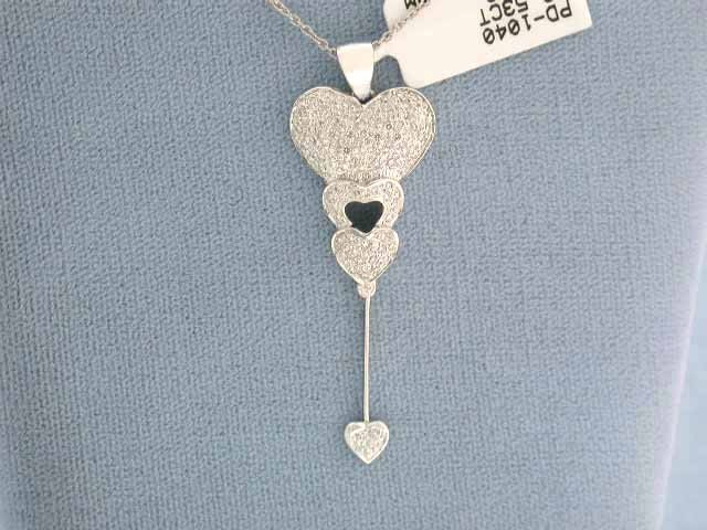 2D: 14k Gold Necklace with Heart Pendant