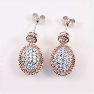 Silver Earrings with Cubic Zirconium